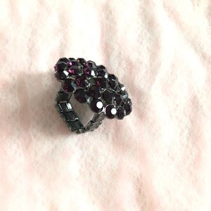 Jewelry - Purple stones adjustable ring